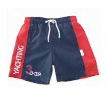 Stummer Beach Short mit Netzslip Sailing