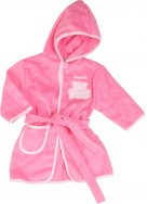 Playshoes Frottee Bademantel Baer pink