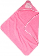 Frottee Kapuzentuch ca  75x75 cm Babybaer pink