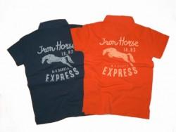 LCKR Pique Poloshirt mango Iron Horse