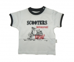 Stummer T Shirt Scooters weiss