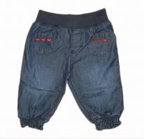 Stummer Sommer Jeanshose Herzchen