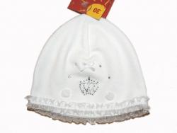 Doell festliche Babymuetze weiss UV 30+