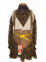 LCKR Girls Gilet Weste Winter Flowers nut