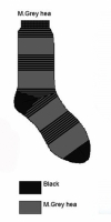 Bonnie Doon Socken Broken Stripes grey heather