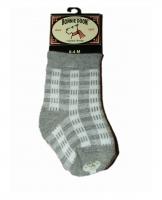 Bonnie Doon Socken Gingham ligh  grey heather