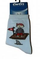 Ewers Socken Pirat hellblau