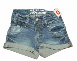 LCKR Girl Stretch Shorts With Love blue denim