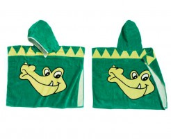 Playshoes Frottee Poncho Krokodil