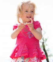 Pezzo Doro Baby Long Shirt Tunika pink