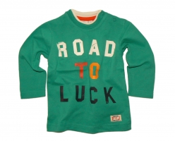 Feetje Langarmshirt Road to Luck gruen