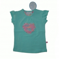 Feetje T Shirt Flower Power mint