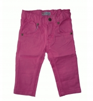 Feetje Stretch  Stoffhose Flower Power pink