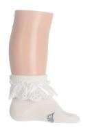 Bonnie Doon Baby Soeckchen Lace Cuff white
