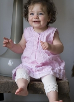 Bonnie Doon Baby Legging Frou Frou white