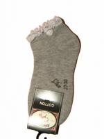Bonnie Doon Romantic Touch Sneaker Short Sock light grey