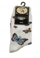 Bonnie Doon Socken Butterflies white