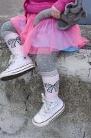 Bonnie Doon Baby Strumpfhose Funny Ribbon light grey