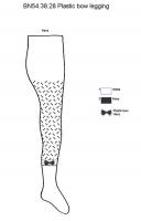Bonnie Doon Legging Plastic Bow white  navy