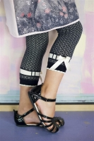 Bonnie Doon Legging Refined Stripe navy