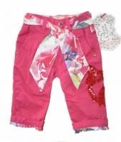 Pezzo Doro Baby Stoff Hose m  Guertel pink