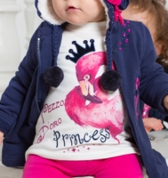 Pezzo Doro Baby Shirt Littel Princess off white