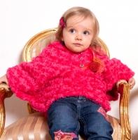 Pezzo Doro Baby Teddy Poncho pink